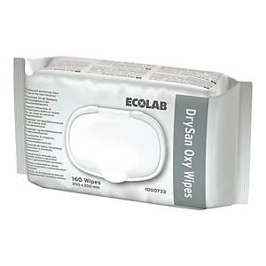 Chusteczki myjąco-dezynfekujące ECOLAB DrySan Oxy, 160 sztuk