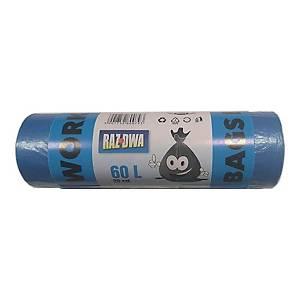 PK20 WASTE BAG EASYBIND HD BLUE 60L