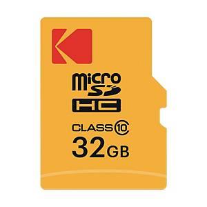 Micro SDHC Kodak Extra classe 10 con adattatore - 32GB