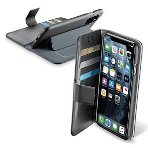 Cover Cellularline Book Agenda, til iPhone 11 Pro Max, sort