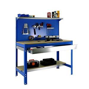 Secretária de trabalho Simonrack BT3 BOX1500 - 144 x 150 x 60 - Madeira/Azul