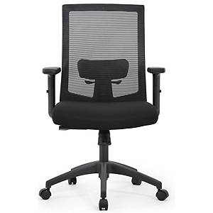 Cadeira Lyreco com mecanismo basculante - Preto