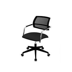 Cadeira SP40RG com mecanismo de contacto permanente - Preto