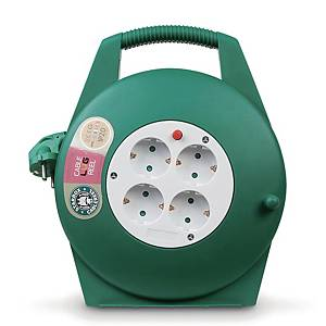RUG REEL POWER CABLE 220V 10M GREEN