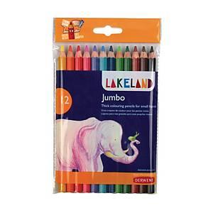 Lakeland Jumbo Pencils Coloured - Pack Of 12