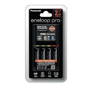 PANASONIC 2Hrs Charger With Pk4 Eneloop Pro AA 2550Mah