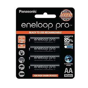 PANASONIC Eneloop Pro AA Rechargable 2550Mah Pack Of 4