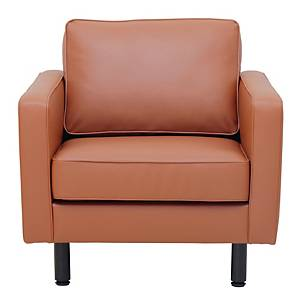 SIMMATIK L-SF-SAND-1 Leather Sofa 1 Seat Brown