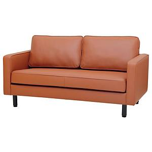SIMMATIK L-SF-SAND-2 Leather Sofa 2 Seat Brown