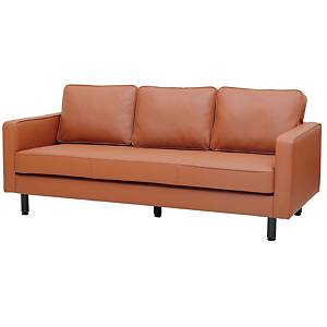 SIMMATIK L-SF-SAND-3 Leather Sofa 3 Seat Brown