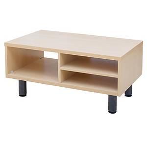 SIMMATIK L-CTB2-S Reception Desk Metal Leg Aged Oak/Black