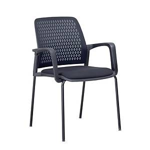 SIMMATIK L-W-161D Reception Chair Black