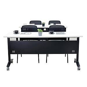 SIMMATIK L-TRN180 TRAINING TABLE 180X60X75 CM WHITE/BLACK