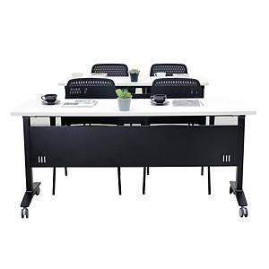 SIMMATIK โต๊ะเทรนนิ่ง L-TRN180 180X60X75 ขาว/ดำ