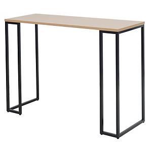SIMMATIK โต๊ะบาร์ขาเหล็ก L-BAR140SB โอ๊ค/ดำ