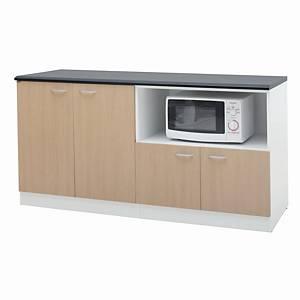 SIMMATIK L-PT160B Kitchen Counter Aged Oak/White
