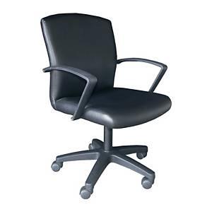 ITOKI เก้าอี้สำนักงาน JASS หนังเทียม สีดำ