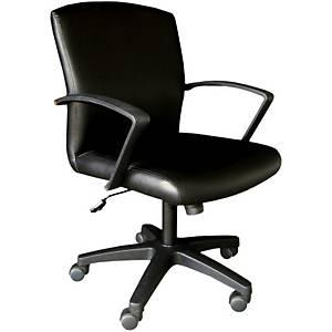 ITOKI เก้าอี้สำนักงาน JASPER-01 หนังเทียม สีดำ