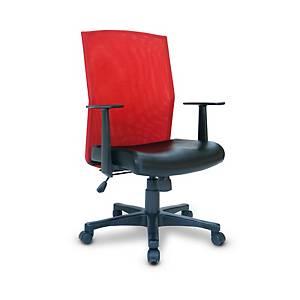 ITOKI เก้าอี้สำนักงาน MOTION หนังเทียม สีแดง/ดำ