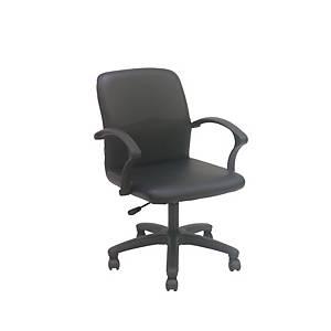 ITOKI เก้าอี้สำนักงาน JJ หนังเทียม สีดำ