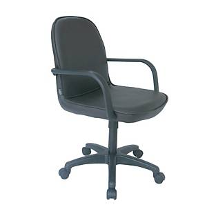 ITOKI เก้าอี้สำนักงาน TK-38/H หนังเทียม สีดำ