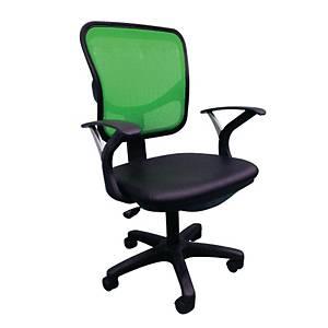 ITOKI เก้าอี้สำนักงาน MAR-01 หนังเทียม สีเขียว/ดำ