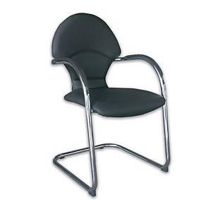 ITOKI เก้าอี้สำนักงาน LG-1/C หนังเทียม สีดำ