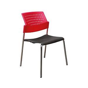 ITOKI เก้าอี้พักคอย GD-01 สีแดง/ดำ