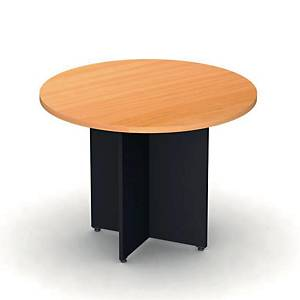 ITOKI RLT100 ROUND TABLE 100X75 CM CHERRY/BLACK