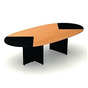 ITOKI TO-260 MEETING TABLE 260X140X75CM CHERRY/BLACK