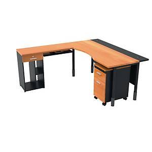 ITOKI TRITON MANAGER SET TABLE CHERRY/BLACK LEFT