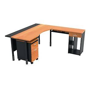 ITOKI TRITON MANAGER SET TABLE CHERRY/BLACK RIGHT