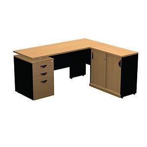 ITOKI OSCAR MANAGER SET TABLE CHERRY/BLACK LEFT