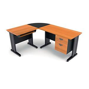 ITOKI FAVOUR PLUS MANAGER SET TABLE CHERRY/BLACK LEFT