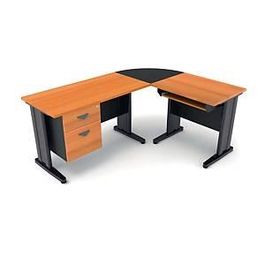 ITOKI FAVOUR PLUS MANAGER SET TABLE CHERRY/BLACK RIGHT