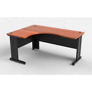 ITOKI TSF-6266 OFFICE TABLE CHERRY/BLACK LEFT