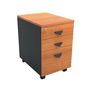 ITOKI F653WFT Pedestal 3 Drawers Cherry/Black