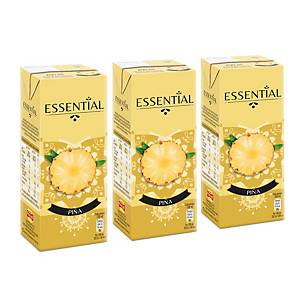 Pack de 3 brick de Zumo de Piña Essential - 200 ml