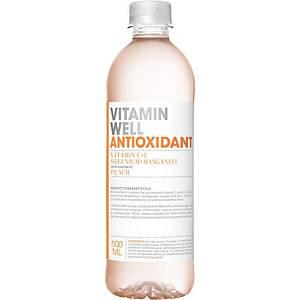 Eau Vitamin Well Antioxydant, 50 cl, le paquet de 12 bouteilles