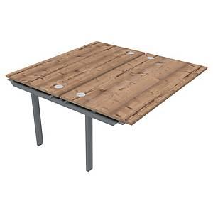 Bureau 2 personnes Buronomic Bench - L 160 cm - élément suivant - timber