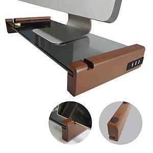STORM MONITER RAISER WITH USB HUB OAK