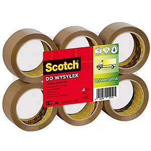 SCOTCH 371 PKG/TAPE 50MMX66M BRW