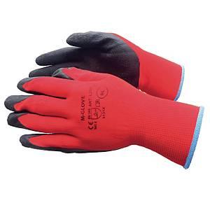 Rękawice ochronne M-GLOVE L2001, rozmiar 10, czerwone, 12 par