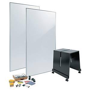 Kit de 2 tableaux blancs laqués Sigel Meet up - magnétique - 180 x 90 cm
