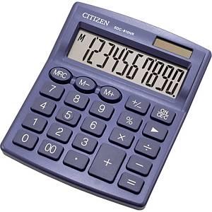 Stolní kalkulačka Citizen SDC810NR, 10-místný displej, modrá