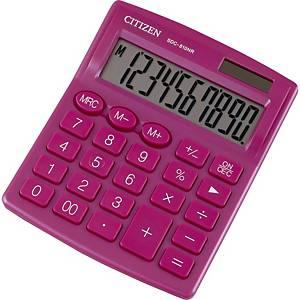 CITIZEN SDC810NR asztali számológép, rózsaszín, 10 számjegy