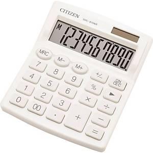 Stolní kalkulačka Citizen SDC810NR, 10-místný displej, bílá