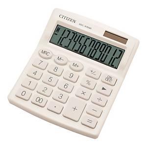Kalkulator CITIZEN SDC-812NR, 12 pozycyji, biały