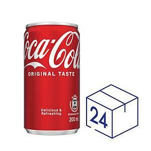 Coca Cola 可口可樂 (迷你罐) 200毫升 - 24罐裝