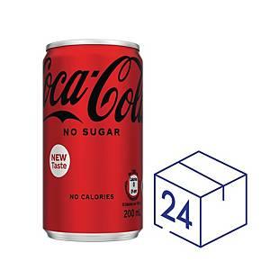Coca Cola Coke Zero Mini 200ml - Pack of 24